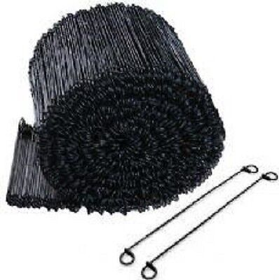 "12"" Black Annealed Double Loop Steel Wire Ties - 5000 pcs 16 ga."