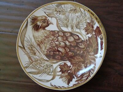 New Pottery Barn Pheasant Sepia Salad Plate