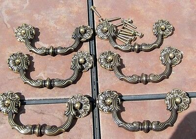 Antiqued Bronze  Colored Drawer Handles with 3 3/4  inch Centers  by Keeler