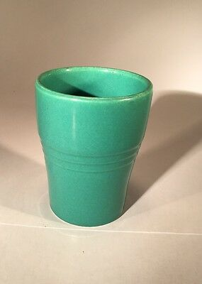 Vintage Antique RARE Jadeite Emerald Green Bathroom Cup Ceramic Porcelain 40's