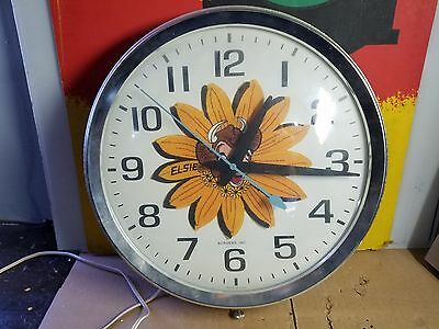 Vintage Bordens Milk Elsie The Cow Clock