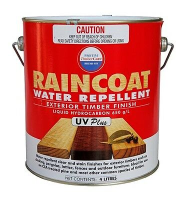 Raincoat UV Plus Timber Protectant Exterior Decking 4 Litre Water Repellent