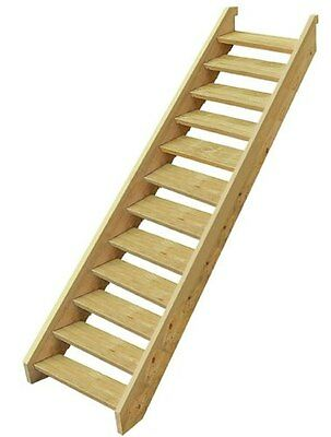 Ezistep 2 Side Timber 12 Step Stair Kit  For Vertical Height of 2080 MM NEW