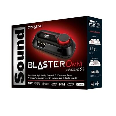 New Creative Sound Blaster Omni Surround 5.1 USB External Sound Card Amplifier