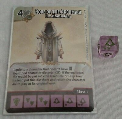 Dice Masters SR Robe of the Archmagi Epic Magical Gear D&D Faerun Under Siege