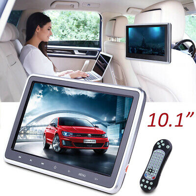 "10.1"" HDMI Slim Headrest Monitor HD Digital Car DVD Player Portable IR+FM USB+SD"