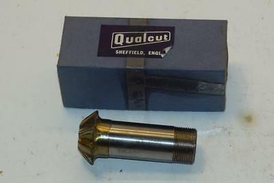 "NOS QUALCUT UK 1-1//4/"" M42 HSS 6 Fl 1/"" Screwed Shank ROUGHER End Mill WR3B8.10/&11"