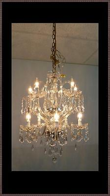 Vintage Italian crystal chandelier Never Used 15 arms 2 levels Light Gorgeous!