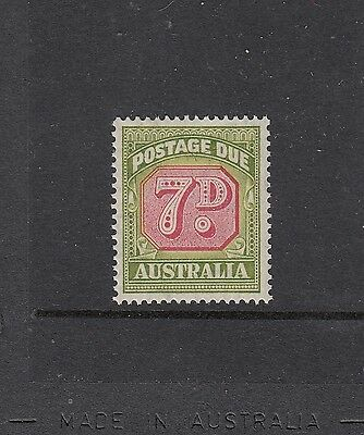 POSTAGE DUES: 1946-56 C of A Watermark 7d Carmine & Green SG D126, MUH