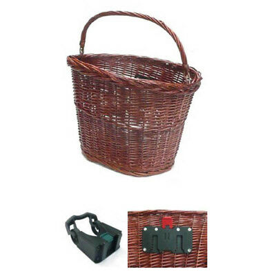Wicker Oval Front BIke Basket with Quick Release