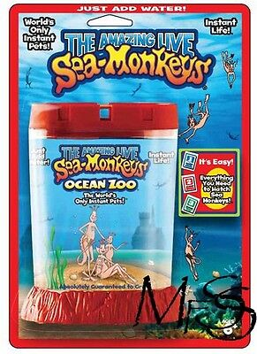 Sea Monkeys Ocean Zoo Red    *  Brand New