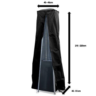 Real Flame Pyramid Patio Heater Zipped PEVA Cover in Grey