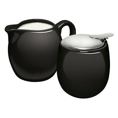 Avanti Camelia Porcelain Milk Jug /Sugar Bowl Coffee/Tea Set Black Table/Kitchen