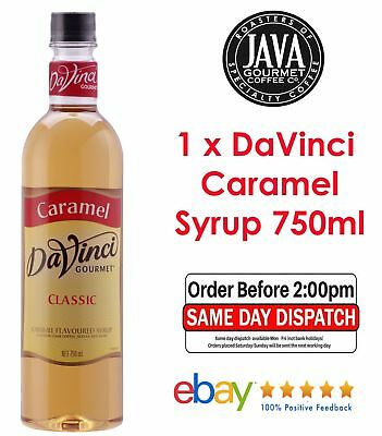 1 x DaVinci Camarel Flavoured Syrup 750ml ** FREE SHIPPING ** Fast Dispatch **