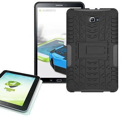 Hybrid Outdoor Bag Black for Samsung Galaxy Tab A 10.1 T580 0.4 Tempered glass