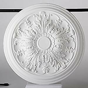 Lightweight Resin Ceiling Rose Valencia Mould Not Polystyrene Easy to Fix 51cm