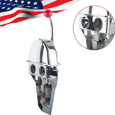 US Universal Boat Single Lever Marine Engine Control Handle Top Mount Zinc Alloy