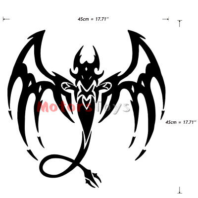 1x Black Color JDM Mystical Dragon The Side Door HF Vinyl Auto Car Sticker Decal