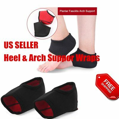 Plantar Fasciitis Heel Arch Support Foot Pain Relief Sleeve Cushion Wrap DS