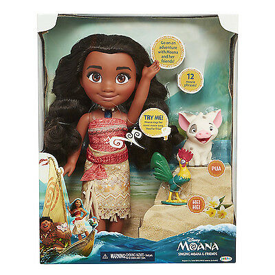 34cm Moana Princess Friends Singing Action Figures Doll Movie Song Girl Toy Gift