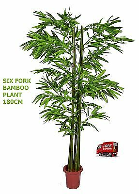 Artificial Artistic  Six Fork Bamboo Plant 180cm , Faux Tree, Fake Tree