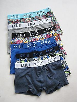 6X Mens Underwear Kenji Cotton Stretch Trunks