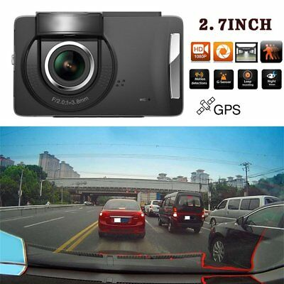 "HD 2.7"" LCD 1080P Car DVR Camera Video Recorder Night Vision Vehicle Dash Cam  T"