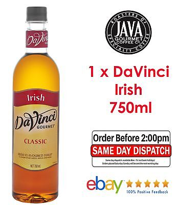 DaVinci Classic Irish Syrup 750ML