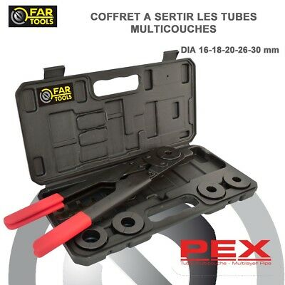 FAR TOOLS - coffret à sertir les tubes multicouches - 16 à 30 mm - ref : 211037