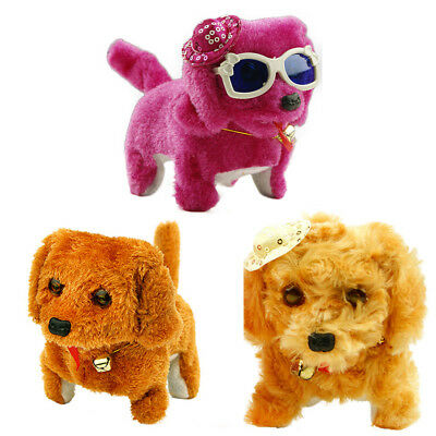 Funny  Dog  Toy Walking  Barking 1Pcs  Floss  Electric Moving  Short