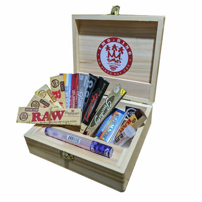 RAW x Rolling Supreme T3 Large Wooden Rolling Box  Elements Gift Set by SMO-KING