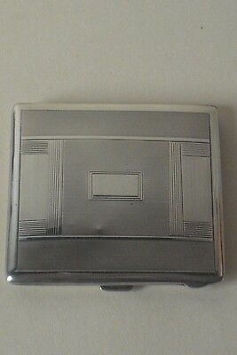 Art Deco Solid Silver Hallmarked Cigarette Case B'Ham 1938-9 86 gm's.CS Green&Co