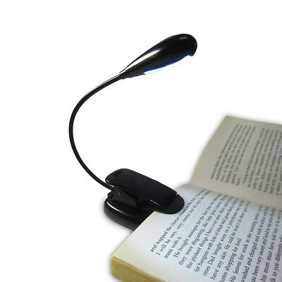 Portable 4LED Book Reading Light Soft Lighting Lamp Clip-on Rechargeable Dulcet