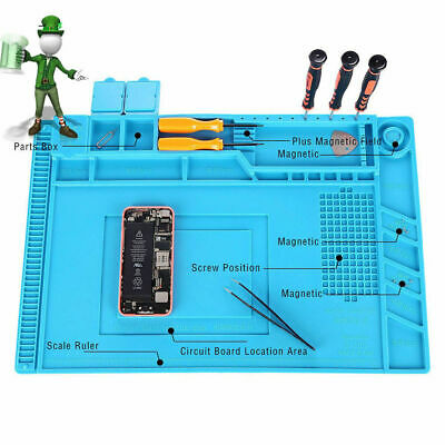 Magnetic Heat Insulation Silicone Pad Desk Mat Maintenance Platform 45x30cm