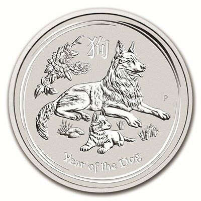 AUSTRALIE 10 Dollar Argent 10 Once Année du Chien 2018 Silver coin Year Dog