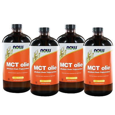 MCT Olie (Medium Chain Triglycerides) - 4 pack (946 ml) - NOW Foods