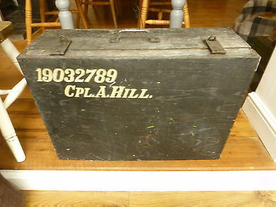 Large Vintage Wooden Storage Box Case Chest -Military?