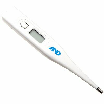 A/&D Medical UT103 Digital Thermometer With Water-Resistant Sensor White//Blue New