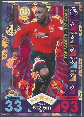 Topps Match Attax 2016-17 Extra- #Pl03-Manchester United-Andrew Cole-Silver Foil