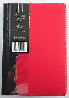 New 2018 Diary  A5 Week To Page Two Tone Colour Week To An Opening A5 Red