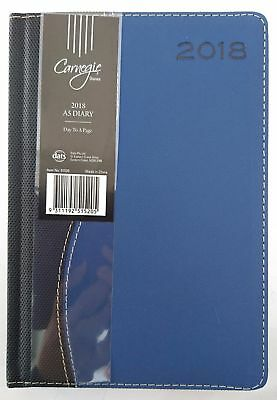 New 2018 Diary  A5 Day To Page Two Tone Colour Day To An Opening A5 Navy Blue
