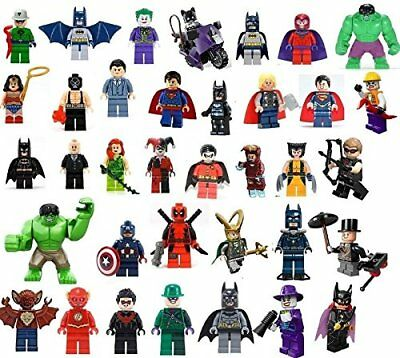 Marvel,DC,Super Heroes Mini Figures Deadpool,Batman,Superman,Robin,Iron Man Lego