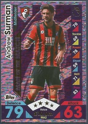 Topps Match Attax 2016-17 Extra- #Ma02-Motm-Afc Bournemouth-Andrew Surman-Foil