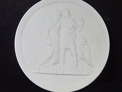Royal Copenhagen Denmark Eneret SUMMER FOUR SEASONS PLAQUE White Bisque