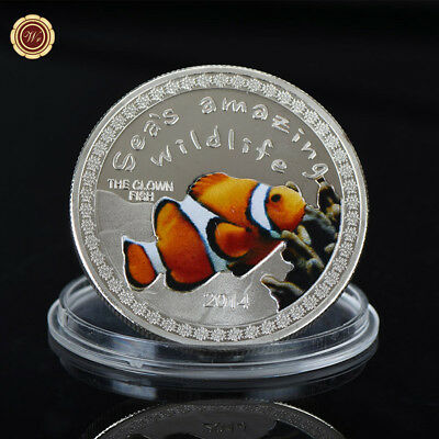 WR Burundi The Clown Fish Collectible Colored Silver Coin 5000 Francs Metal Arts