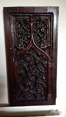 Late 15th/Early 16th Century Gothic Carved Walnut Panel