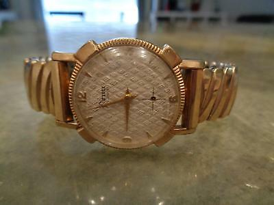Vintage Culmina Penn 17 Jewels DYR 10K Gold Filled GF Band Sub Second Watch Rare