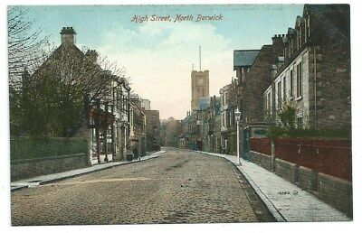 Vintage Postcard. High Street, North Berwick. Unused. Ref:7937