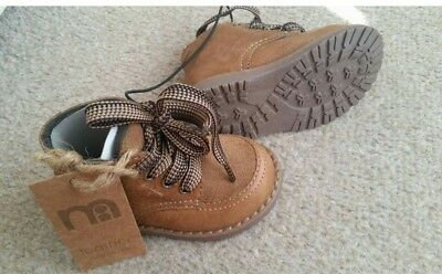 Toddler tan leather boots infant size 4 from Mothercare