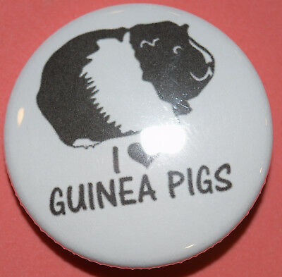 I Love Guinea Pigs 1. Button Magnet